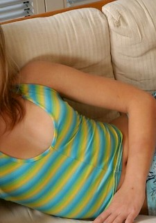 18+ blonde presents her sexy teen body