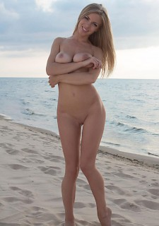 Perfect blonde on beach
